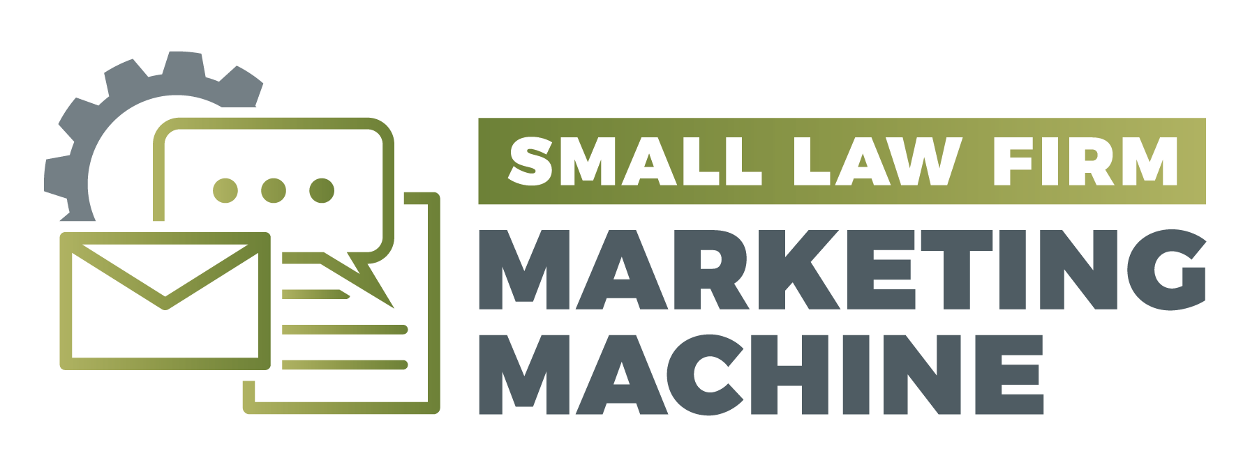 small law firm marketing machine logo